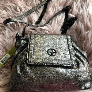 Gianni Bini TARA Pewter Metallic Crossbody purse